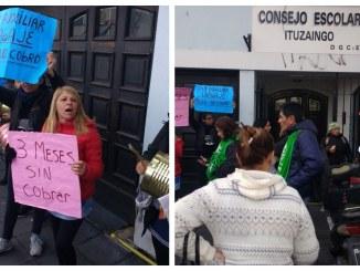 Protesta de auxiliares de Ituzaingó