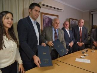 Manuel Mosca y César Torres compartieron agenda de trabajo en la legislatura de San Juan.