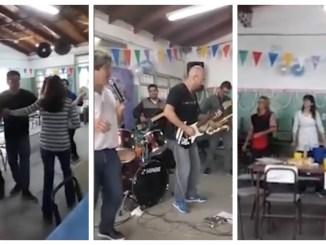 Fiesta en escuela de Moreno