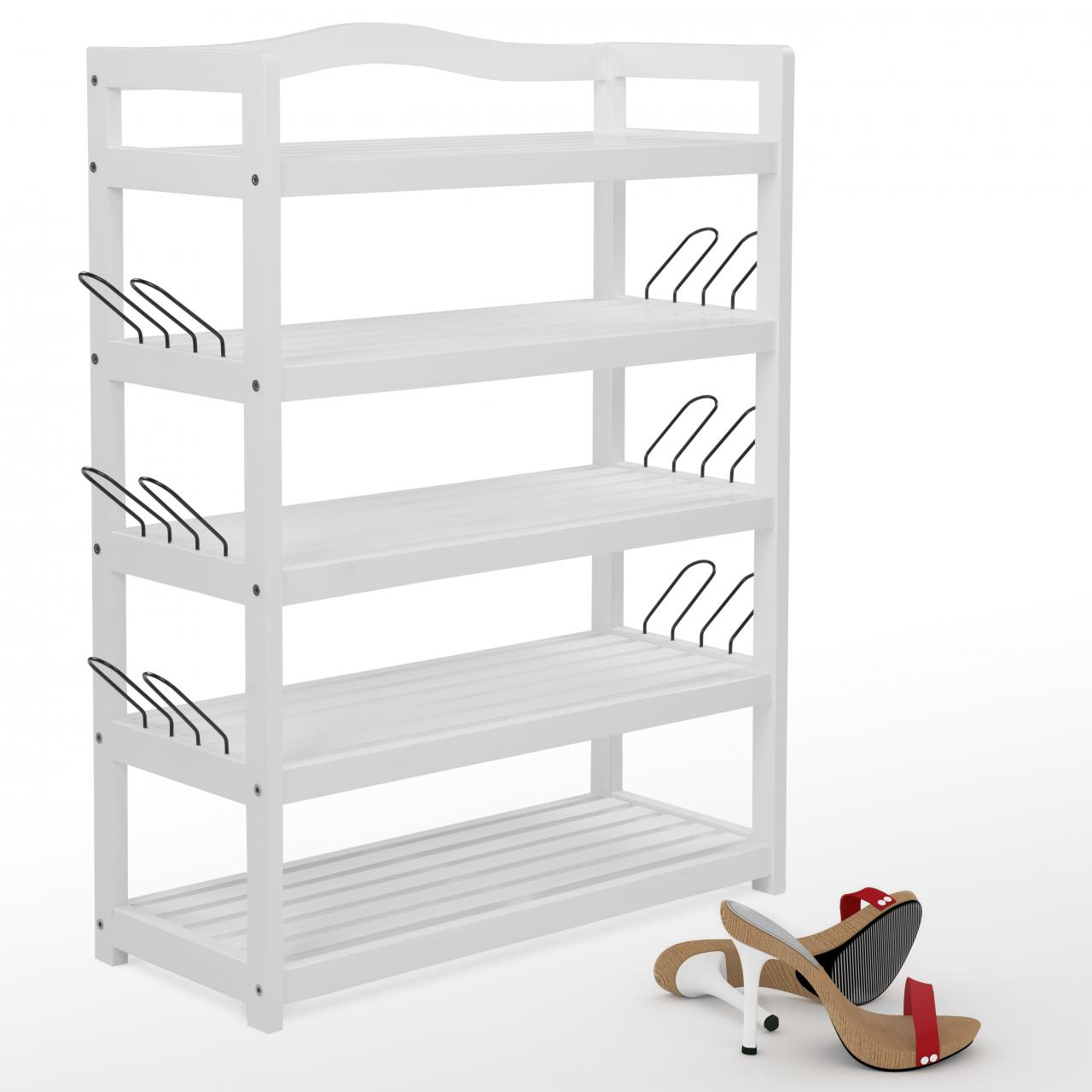 Shoe Rack 5 Tier Shoe Organiser Shoe Storage Stand Shoe