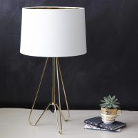Gold Tripod Table Lamp with Shade     Primrose & Plum