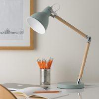 Pastel Wooden Desk Lamp  Blue or Cream  Primrose & Plum