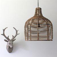 Bamboo Pendant Light  Primrose & Plum