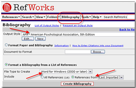 Using RefWorks with Write-N-Cite