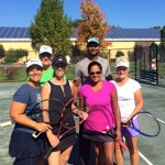 Marie, Chris, Ali, Sharon and Betty with Coach Kaptan