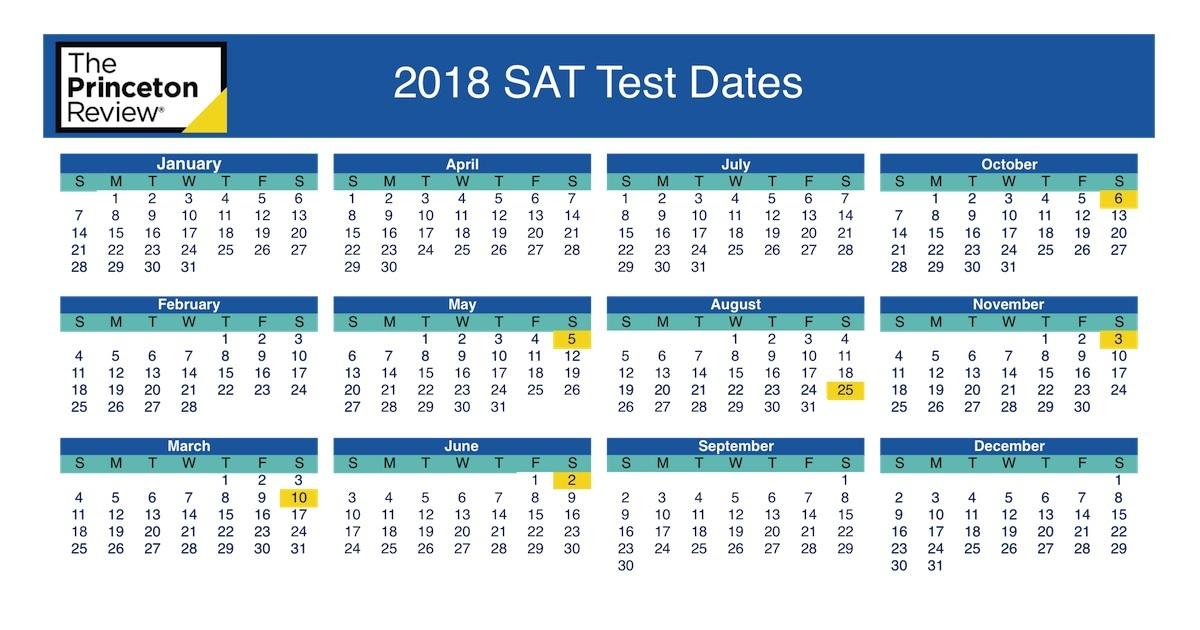 SAT Test Dates The Princeton Review