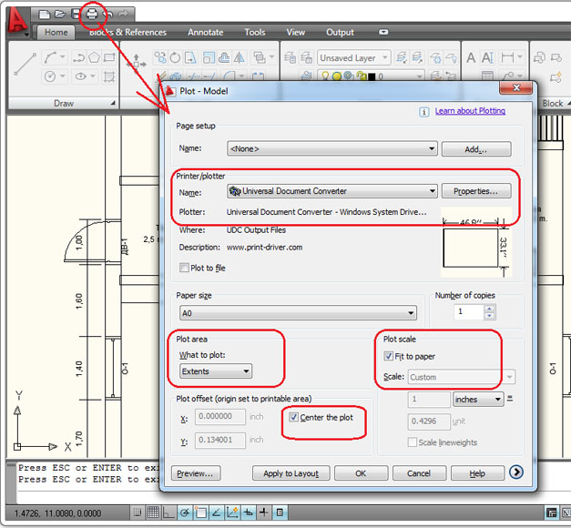 Convert AutoCAD DWG to PDF - Universal Document Converter