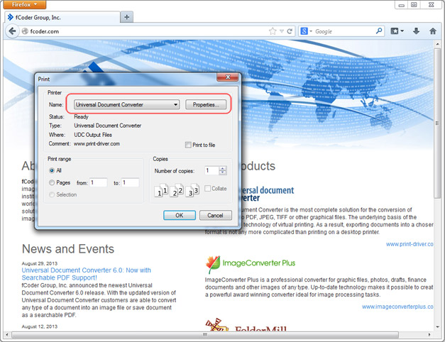 How to Save Web Page as PDF - Universal Document Converter