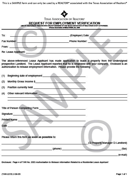 Evf Form Employment Verification Form Printable Sample Rental - income verification form