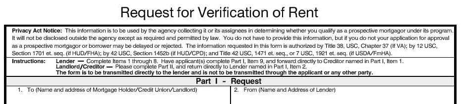 Rental Verification Form Real Estate Forms - rental verification form