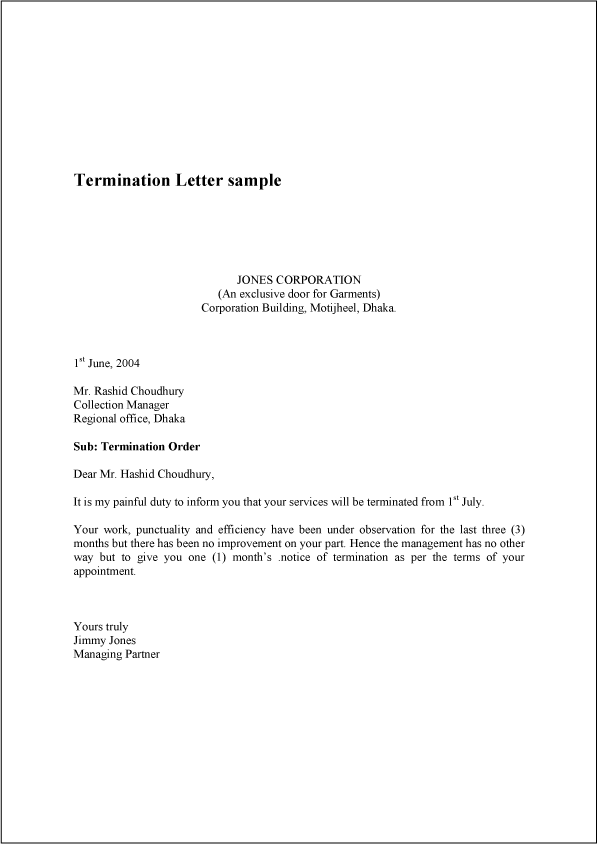 cover letter termination of contract letter sample resume skills ...