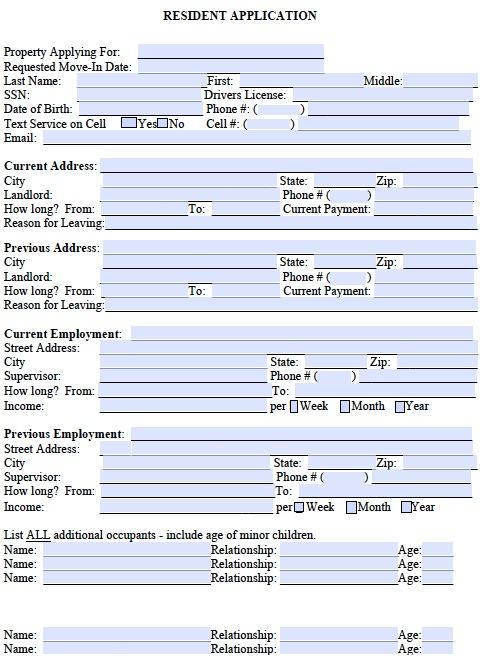 Free Rental Application Form Real Estate Forms - printable rental agreements