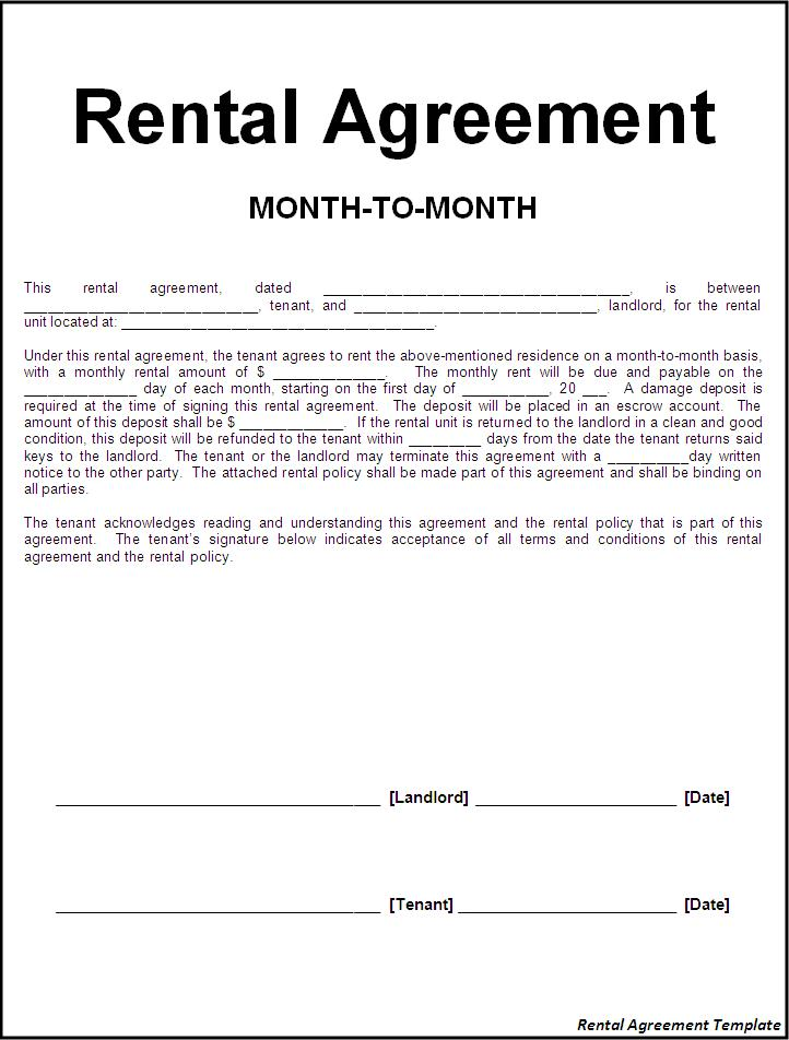Rental Agreement Forms Ohio Free – Free Sample Lease Agreement