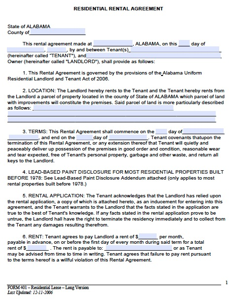 Rental Lease Agreement Templates Free Real Estate Forms - lease extension agreement template