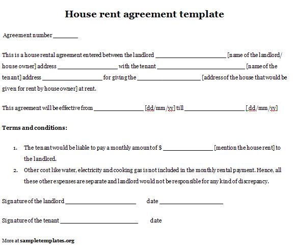 rent contracts samples