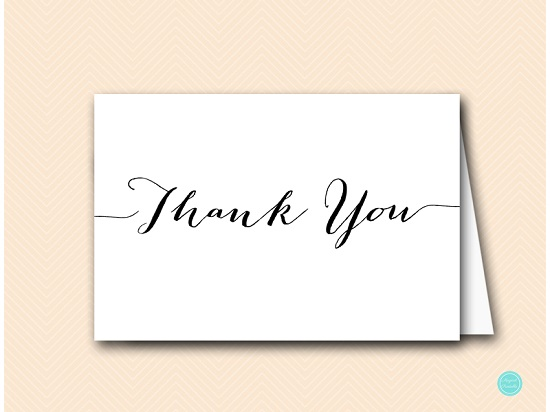 Chic Fold Thank You Card Printabell \u2022 Express