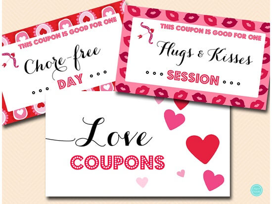 Printable Love Coupons for Him or Her Printabell \u2022 Express