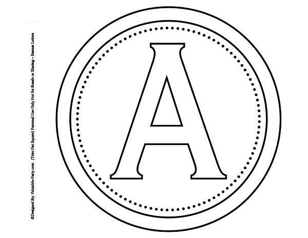 Free Printable Alphabet Letters Banner Flag Letter PDF Templates