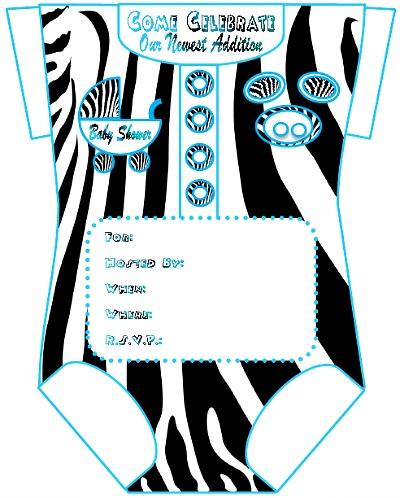 Printable Boy Onesie Baby Shower Invites - Printable Baby Shower Invite