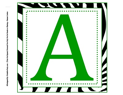 8x8 Inch Large Square Printable Alphabet Letters Printable Banner