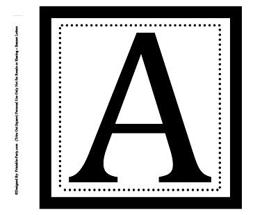 Printable Alphabet Letters A-Z Printable Banner Letters Personalize