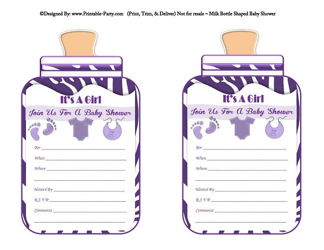 Baby Bottle Printable Invitation Template u2013 orderecigsjuiceinfo - free baby shower invitation templates printable
