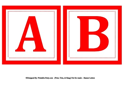 Small Square Printable Alphabet Letters Printable Banner Letters