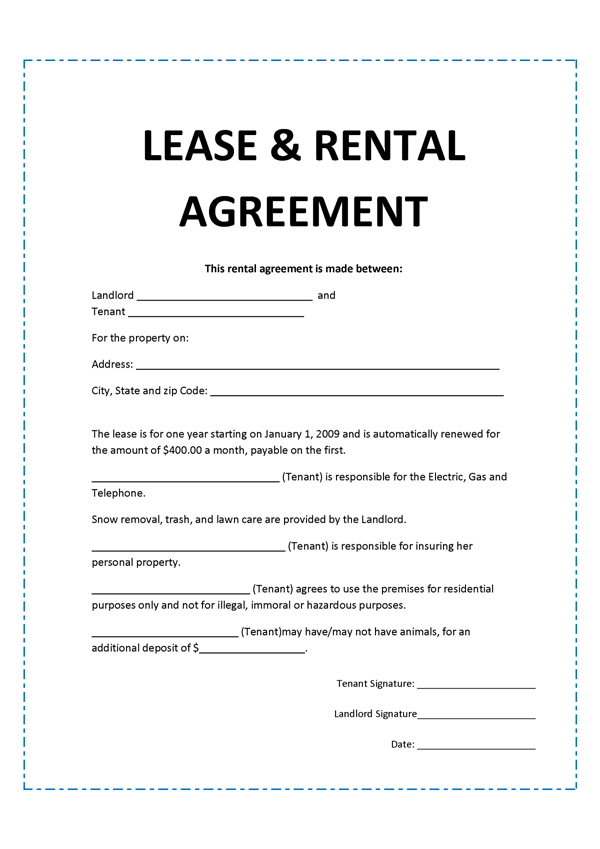 Simple Lease Agreement Sample. Free North Carolina Commercial