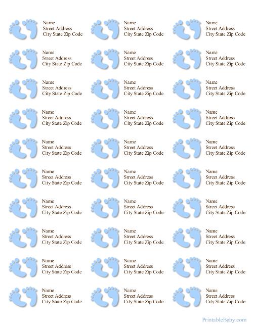 Printable Baby Address Labels - printable address labels free