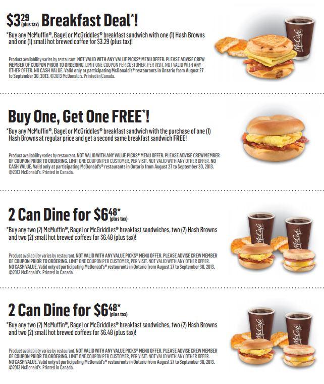 McDonalds Menu Coupons \u2013 Printable (1) \u2013 Printable Coupons Online