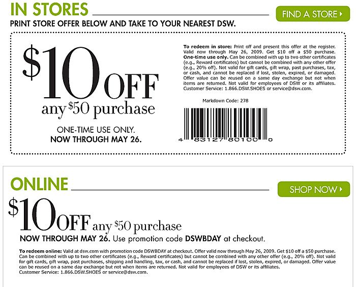 DSW Coupons Printable Coupons Online