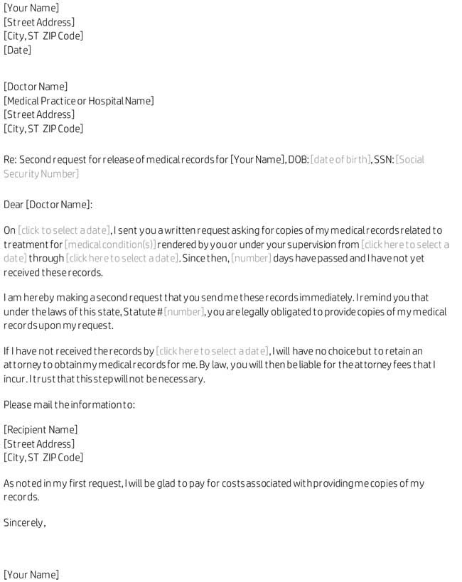 Medical Records Request Forms - Free Formats and Examples - medical records request forms