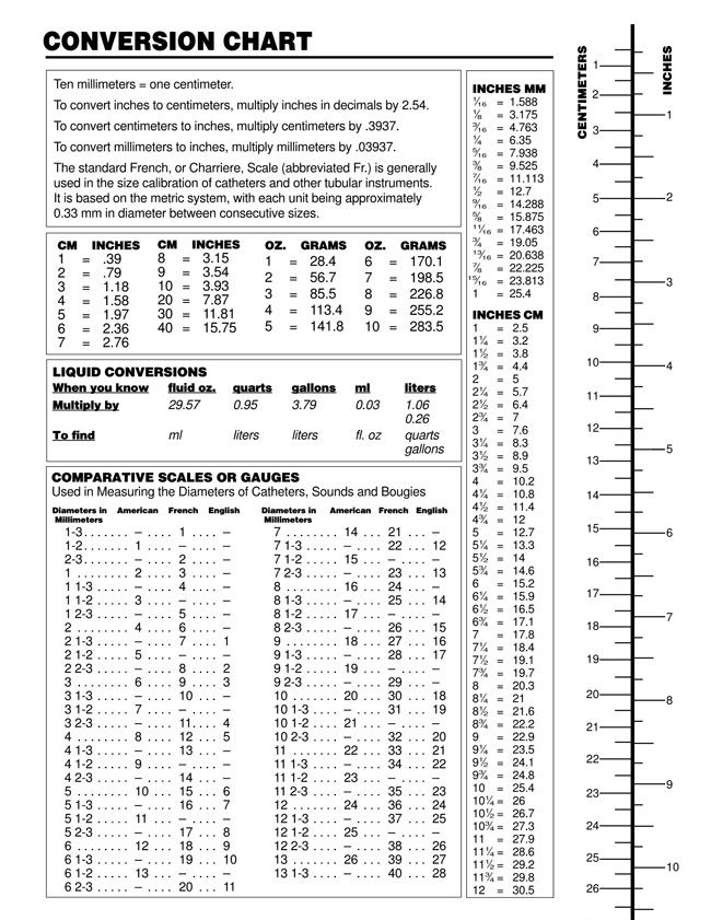 Printable Liquid Measurement Conversion Charts (with Guide)