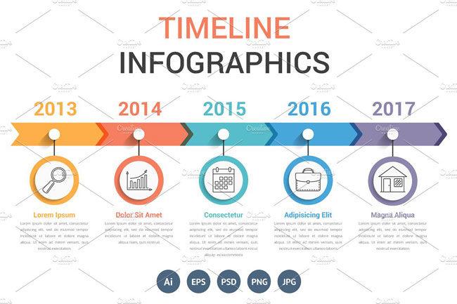 Personal Achievement Timeline Templates (Timeline Infographics)