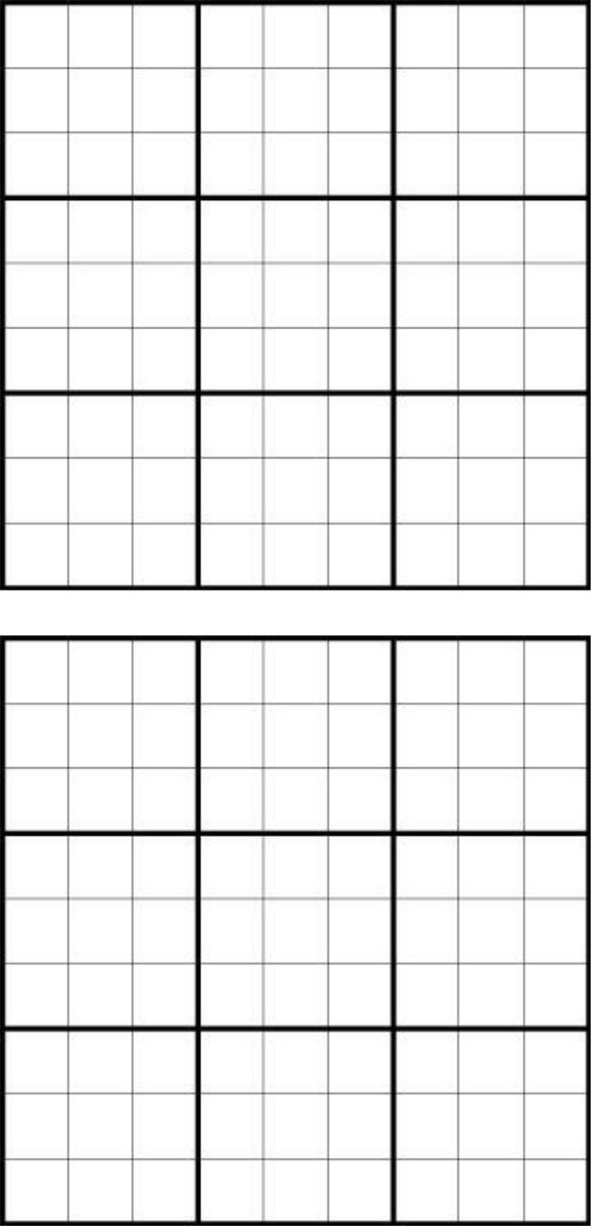 printable sudoku grid