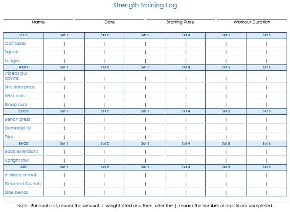 7 Printable Workout Log Templates to Track Your Progress
