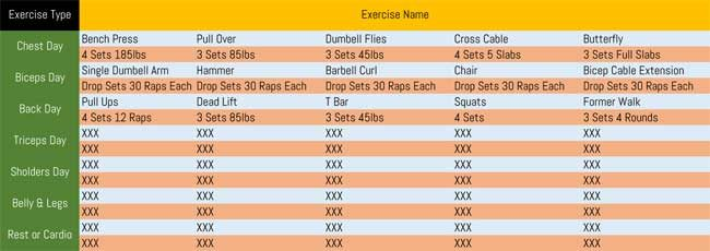 7 Printable Workout Log Templates to Track Your Progress - workout log template