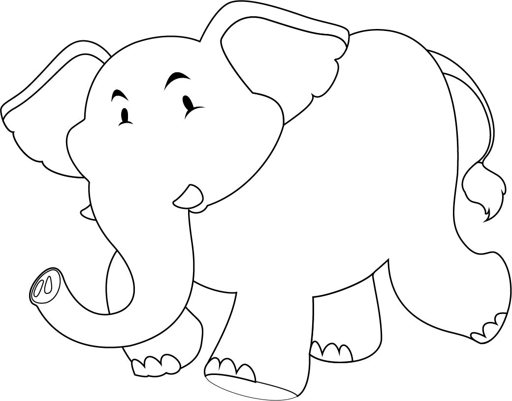 Mother Elephant Cut Out Template - elephant cut out template