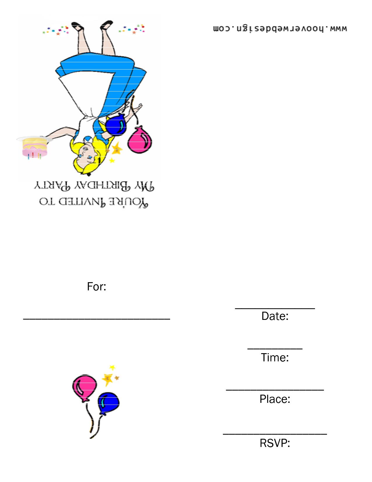 Alice And Wonderland Invitation Templates In Wonderland