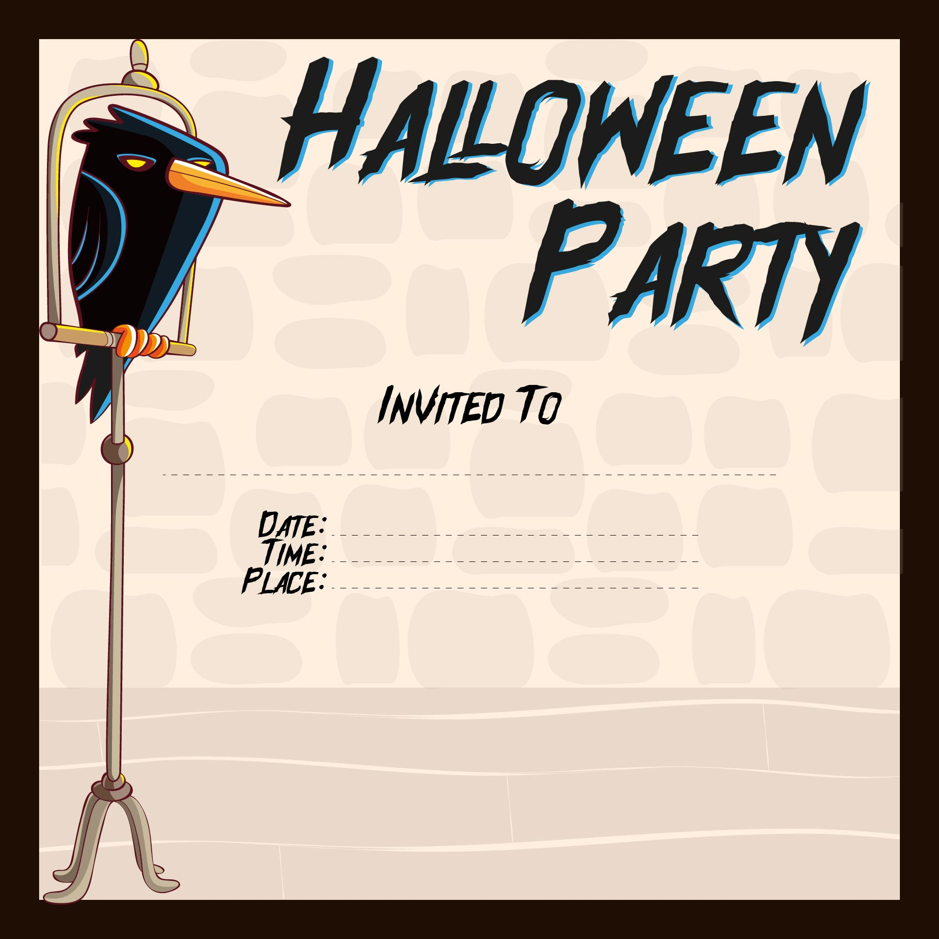 8 Best Images Of Halloween Printable Party Invitations
