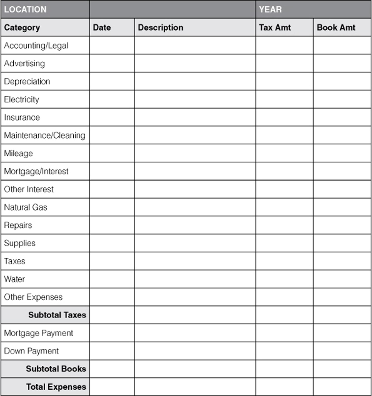 Accounting Template Paper – Printable Accounting Ledger