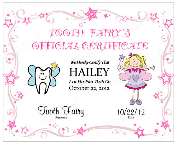 Free Printable Tooth Fairy Certificate Template Free