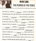 Star Wars Mad Libs Printable