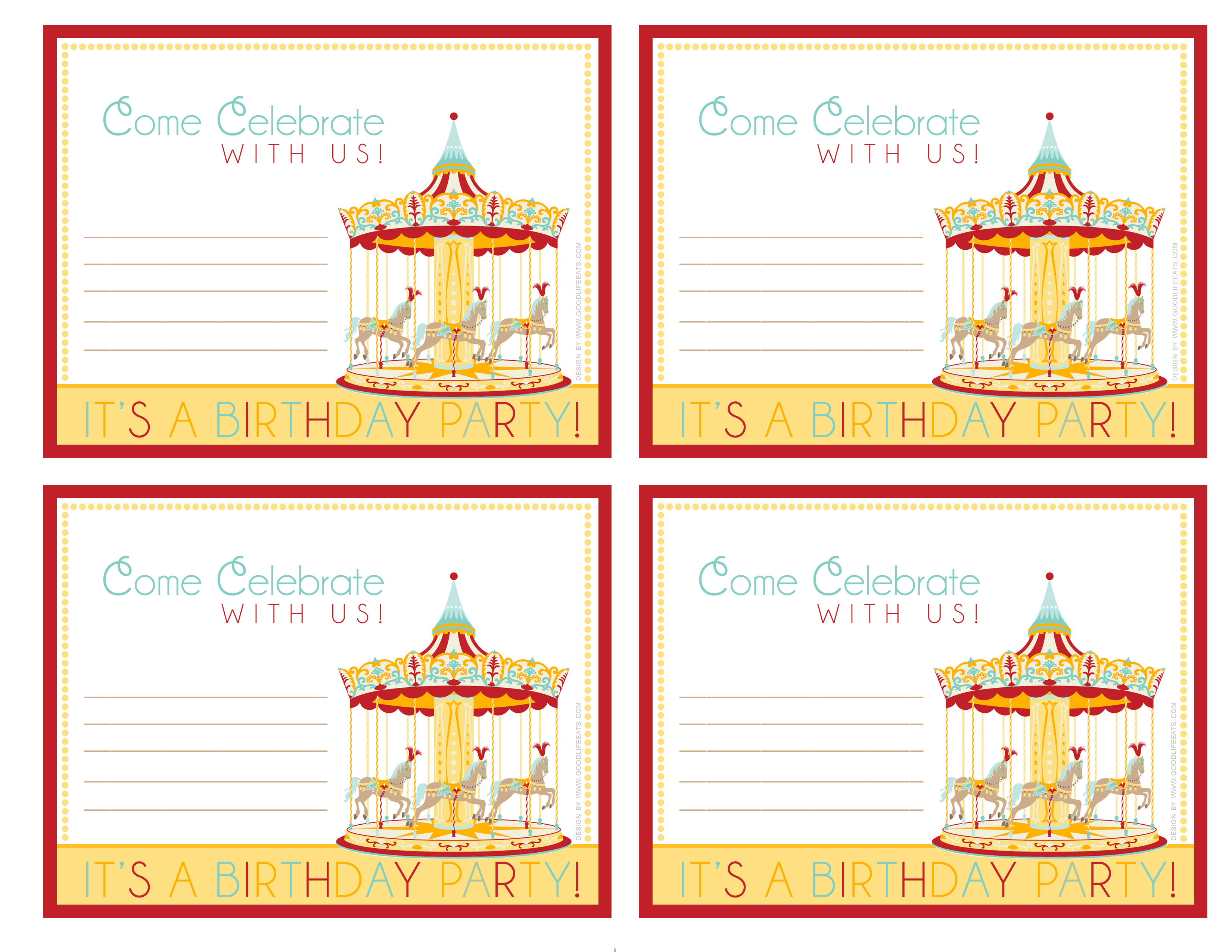 6 Best Images Of Free Printable Carnival Birthday