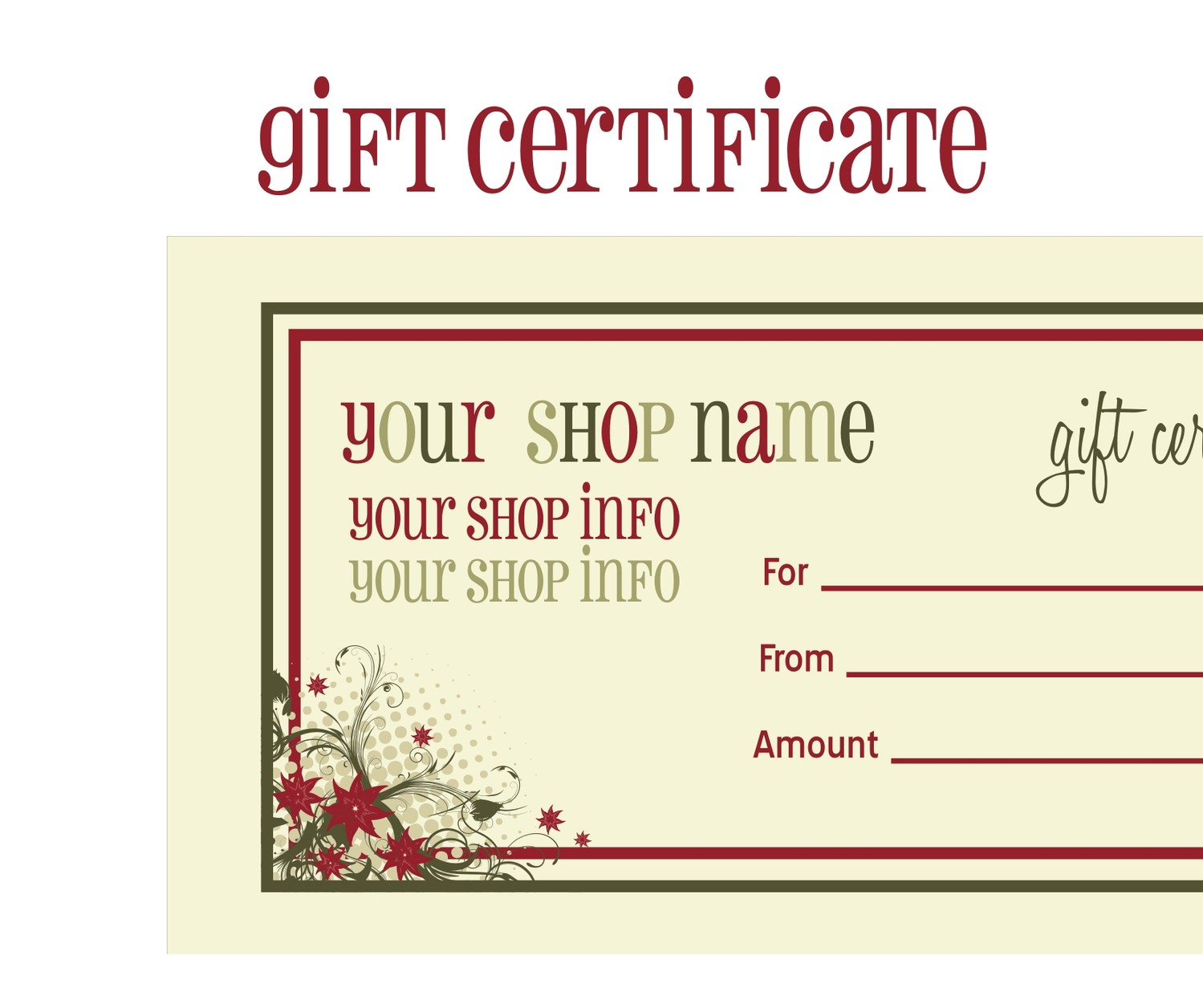 create your own voucher template – Make Your Own Gift Vouchers Template Free