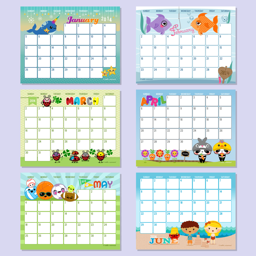 Printable Editable Calendar November 2013 Free Printable 2012 Calender With Editable Text 505 Design 6 Best Images Of Hello Cuteness Free Printable Calendars