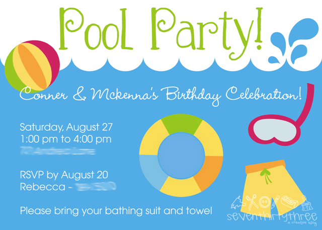 Doc Free Printable Pool Party Birthday Invitations Girls Pool – Pool Party Invitations Printable