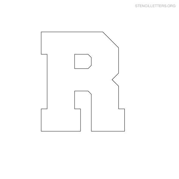 Lower Case Letter R Block