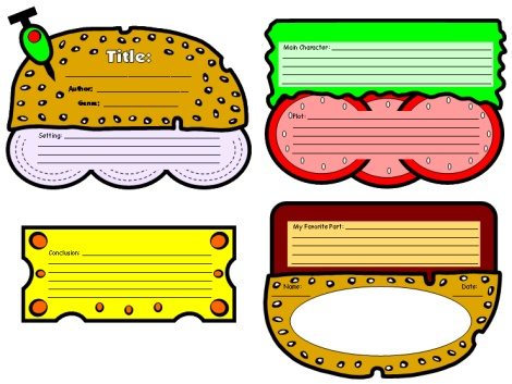 sub sandwich book reports - book report template free