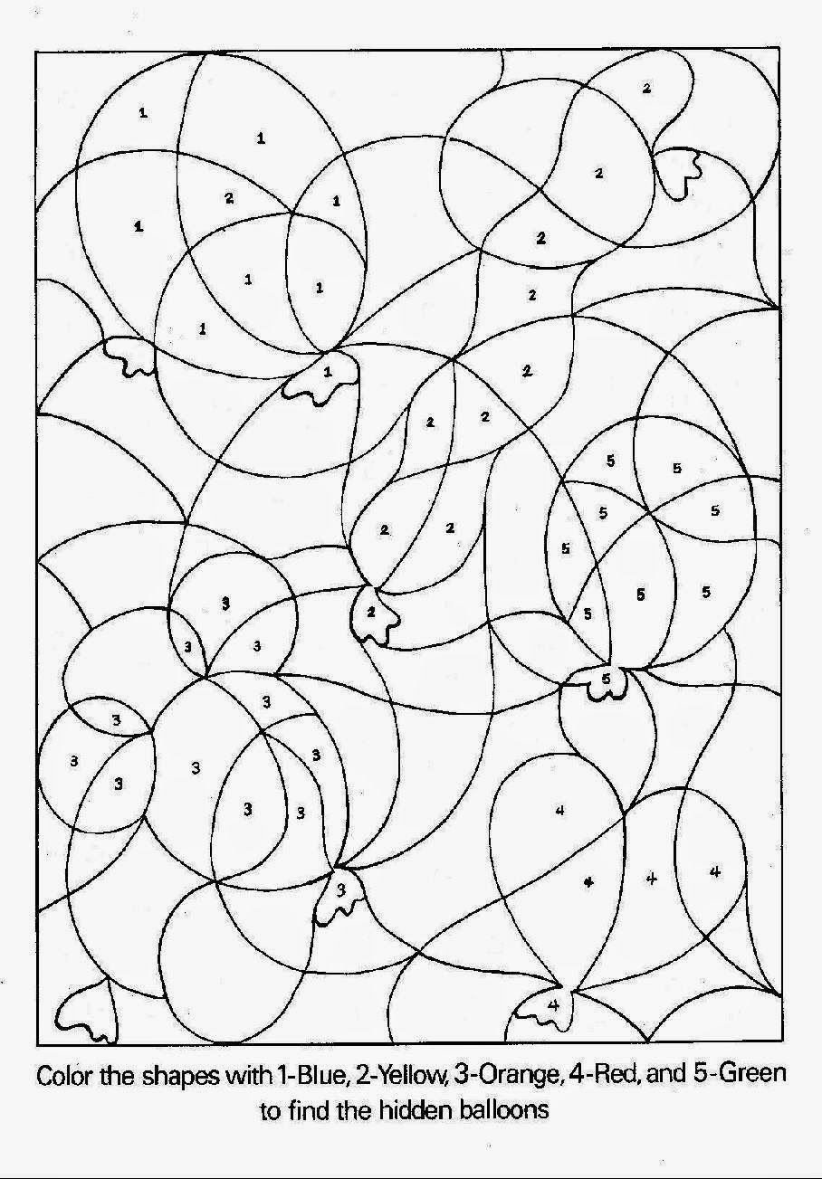 Printable coloring pages by number -  Pages Printable Color By Number Coloring Pages_63594 Download